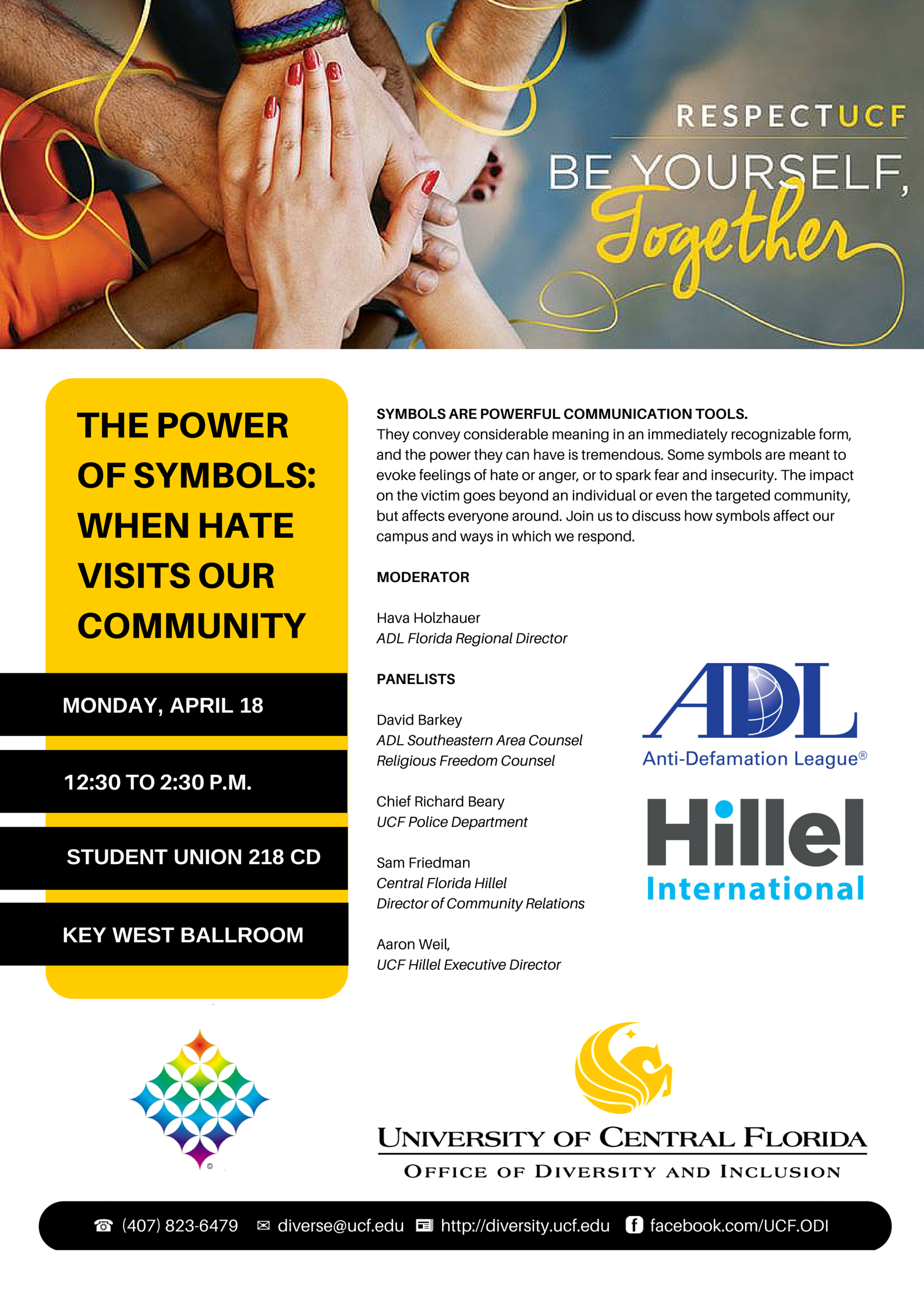 Anti Defamation League Adl Panel Discussion At Ucf The Power Of