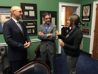 Glass Leadership Institute participants Jason Rayman and Florencia Schwarz Coane advocating on ADL issues to Congressman Ted Deutch