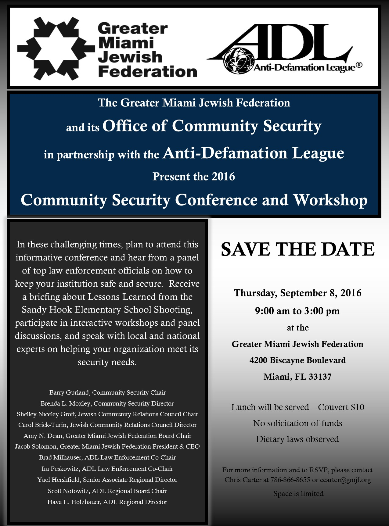 Anti Defamation League Community Security Conference